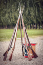 Muskets of the British Army Royalty Free Stock Photo
