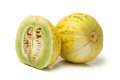 Muskmelon on a white background Royalty Free Stock Photography