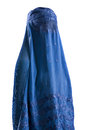 Muslim blue burqa veil isolation on a white background Royalty Free Stock Photos