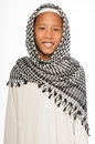 Muslim boy wearing islamic attire Royalty Free Stock Photo