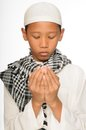 Muslim boy wearing islamic attire Royalty Free Stock Photography