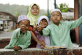 Muslim children in bali indonesia Stock Images