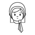 Muslim cute woman ethnicity character
