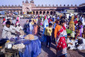 Muslim families at fatehpur sikri eid festival in india indian celebrating the of al fitr the mosque near agra uttar pradesh Stock Photography