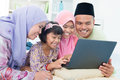 Muslim family interaction Royalty Free Stock Photography