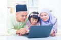 Muslim family living lifestyle Stock Photos