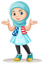 Muslim girl with happy face Royalty Free Stock Photo
