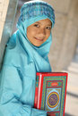 Muslim Girl Idul Fitri Royalty Free Stock Image