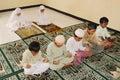 Muslim Kids Praying Royalty Free Stock Photo