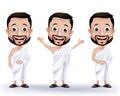 Muslim Man Characters Wearing ...