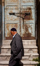 Muslim man passing istanbul doorway turkey – april by prior to anzac day on april in ankara turkey each year patriotic turks Stock Photo