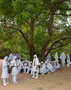 Muslim moslem school kids with headscain Sri Lanka Royalty Free Stock Images