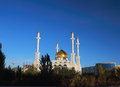 Muslim mosque in astana evening landscape with a Royalty Free Stock Images