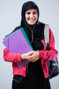 Muslim student before classes Royalty Free Stock Photo