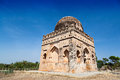 Muslim tomb ruined on the blue sky Stock Photo
