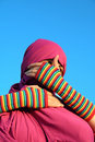 Muslim woman - blind eyes Royalty Free Stock Photo