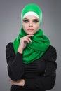 Muslim woman in hijab Royalty Free Stock Photo