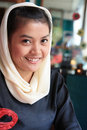 Muslim woman smiling Royalty Free Stock Photos