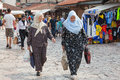 Muslim women sarajevo bosnia and herzegovina august walk on bascarsija the old town very popular tourist place Royalty Free Stock Photography