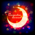 Muslimred crescent on abstract background