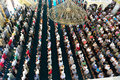 Muslims in the mosque for prayer was pure during friday prayers congregation bulk Stock Photography