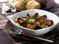 Mussel soup Royalty Free Stock Photo