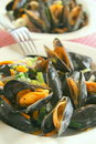 Mussels dish Royalty Free Stock Image