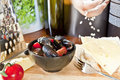 Mussels saute Royalty Free Stock Photo