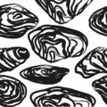 Mussels , stylized ink and ink