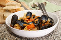 Mussels with tagliatelle and tomato sauce Royalty Free Stock Photo