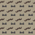 Mustache, Bow tie seamless patterns. Father`s Day holiday concept repeating texture, endless background. Vector