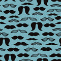 Mustache pattern Royalty Free Stock Image