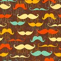 Mustache seamless pattern Royalty Free Stock Photo