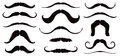 Mustache set a of black illustrations for overlay on faces Stock Photo