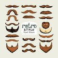 Mustaches and beards Stock Photo
