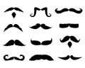 Mustaches collection Royalty Free Stock Photography