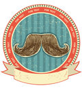 Mustaches symbol set on old paper texture.Vintage Royalty Free Stock Photo