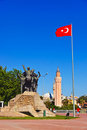 Mustafa Kemal Ataturk statue in Antalya Turkey Royalty Free Stock Images