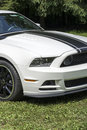 Mustang boss 302 front end Royalty Free Stock Photo