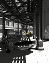 Mustang in old Manhattan