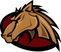 Mustang Stallion Graphic Mascot Image Stock Photo