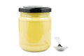 Mustard in jar Royalty Free Stock Image