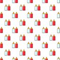 Mustard ketchup bottle pattern seamless