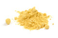 Mustard Powder  on White Background Stock Photo