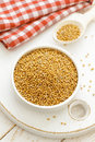 Mustard seeds bowl Stock Images