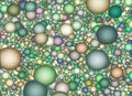 Muted color spheres background Stock Images
