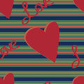 Muted Stripe Love Pattern Stock Photos