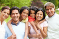 Muti-Generation Indian Family Walking In Countryside Royalty Free Stock Photo