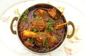 Mutton dish or non veg in a copper bowl Stock Photos