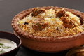 Mutton gosht biryani lamb hogget and are the meat of domestic sheep or goat biriani or beriani is a set of Royalty Free Stock Image